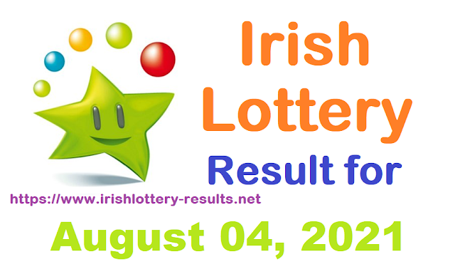 Irish Lottery Results for Wednesday, August 04, 2021