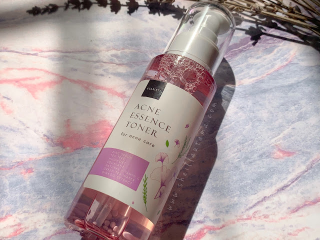 packaging scarlett essence toner