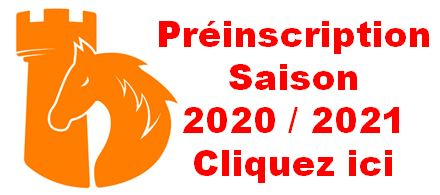 Préinscription saison 2020 / 2021