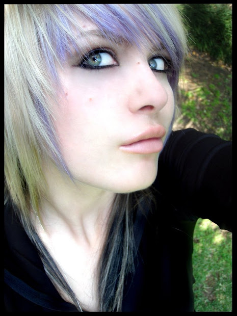 emo hairstyles girls purple
