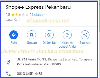 Hub Shopee Express standard Pekanbaru Alamat : Jl. SM Amin No.33, Simpang Baru, Kec. Tampan, Kota Pekanbaru, Riau 28292 Telepon / Whatsapp : +6282384514488