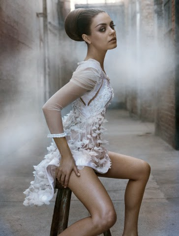 Mila Kunis Black Swan fashion editorial