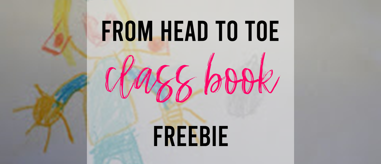 From Head to Toe Eric Carle class book freebie