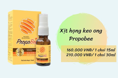 xit họng keo ong propobee