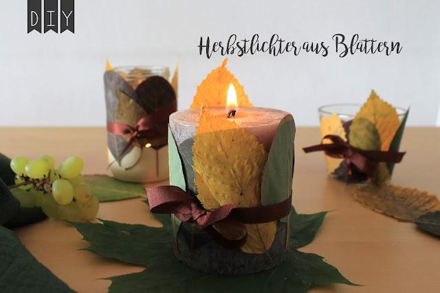 DIY Herbstlichter Herbstlaternen aus Blaettern Jules kleines Freudenhaus