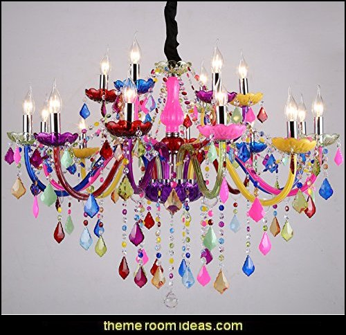 15 Lights Colorful Fashion Mult-Color Glass modern chandelier pendant lamp ceiling light Color Multi