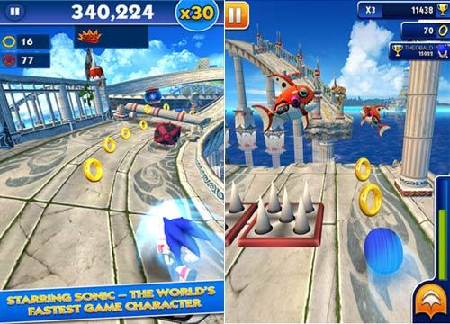 تحميل لعبة المغامرات القنفذ سونيك Sonic Dash كاملة ومجانية