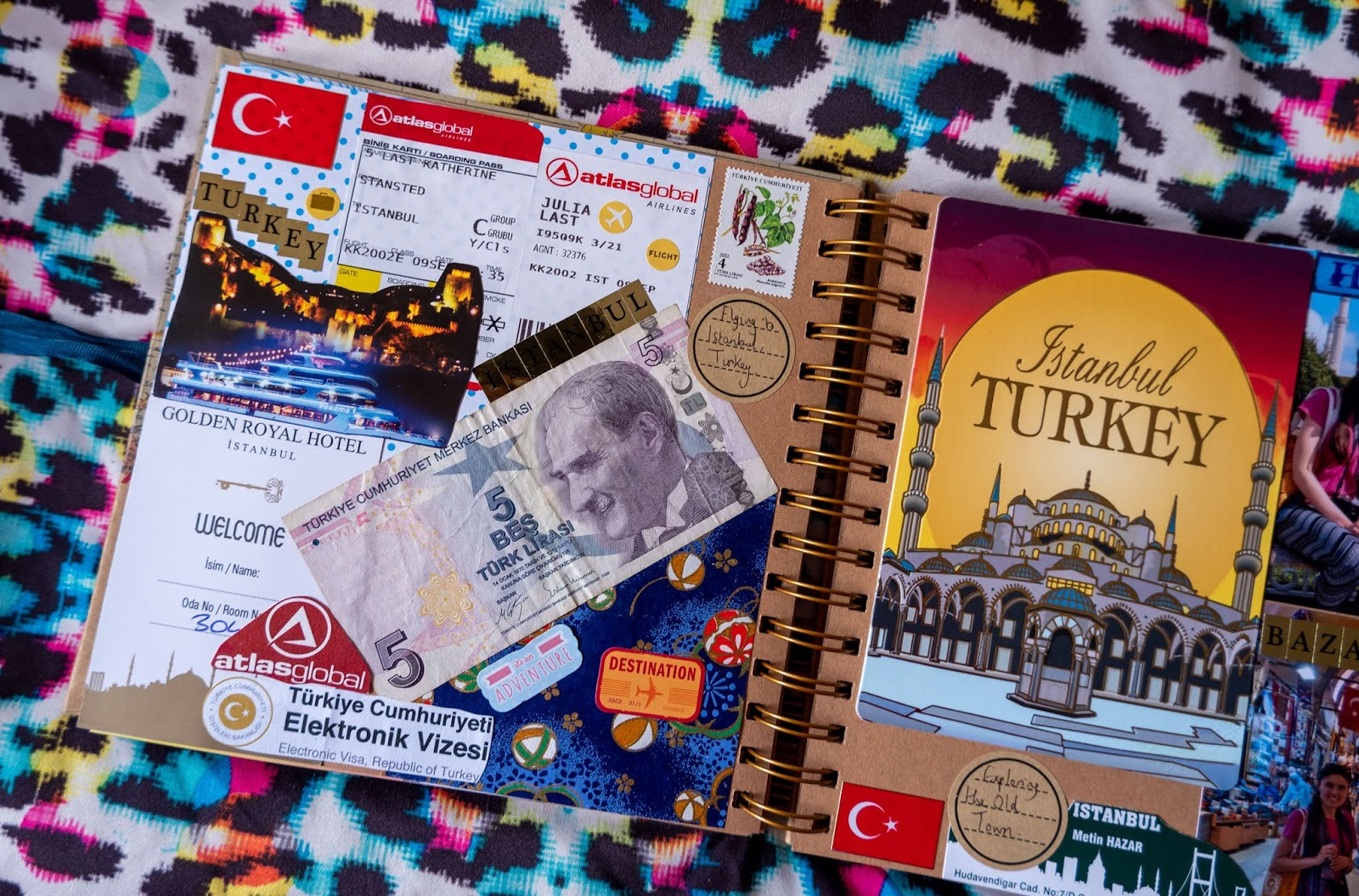 Istanbul pages in my 2019 travel scrapbooks