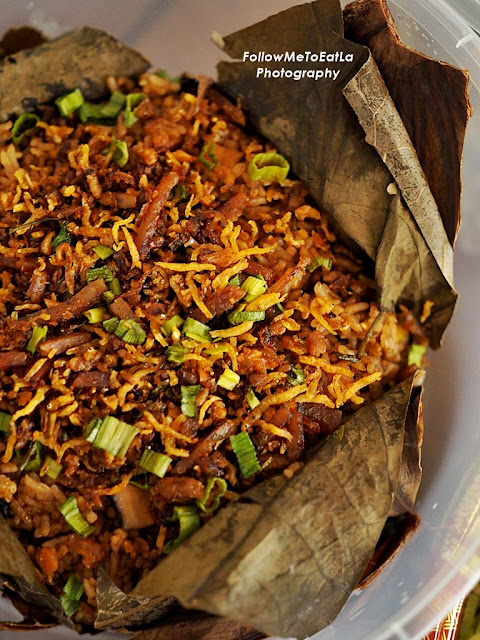 Fried Tea Rice with XO sauce in Lotus Leaf With Long Jing