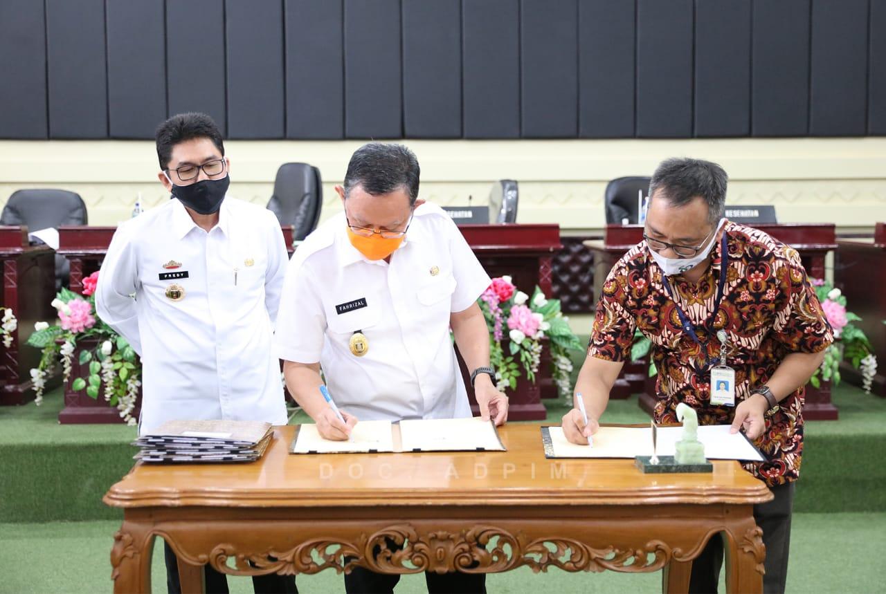 Penandatanganan Addendum Perjanjian Kerjasama Pemprov Lampung dengan BPJS, Sekdaprov Ajak Semua Pihak Bersinergi Wujudkan Pelayanan Kesehatan yang Bermutu