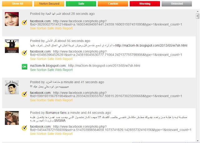 Norton Safe Web search