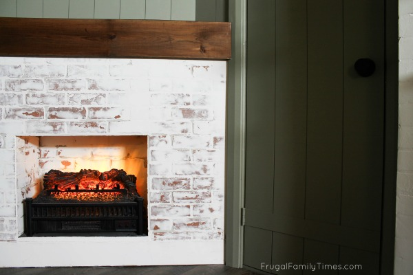 build a faux fireplace