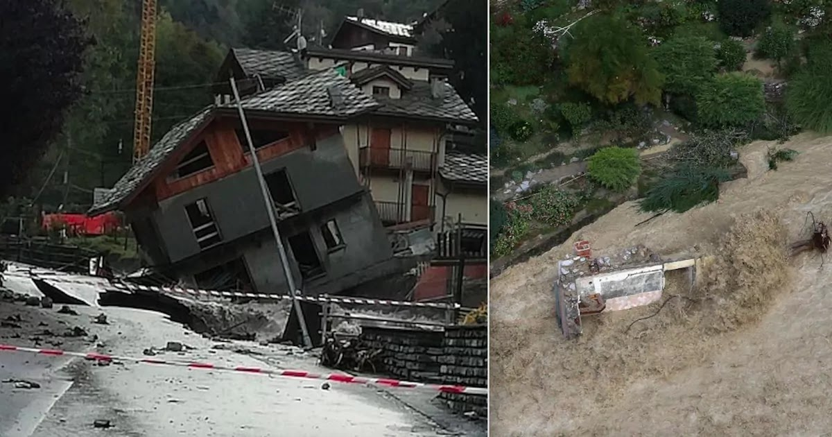 2 Killed And 24 Missing As Storm 'Alex' Hits Italy And France, Video Shows Bridge Collapsing And Homes Being Swept Away