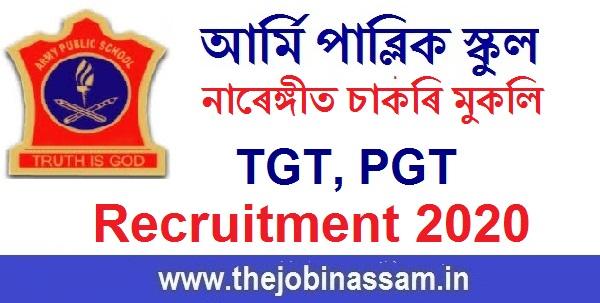 Army Public School Narangi, Guwahati Recruitment 2020: TGT/PGT