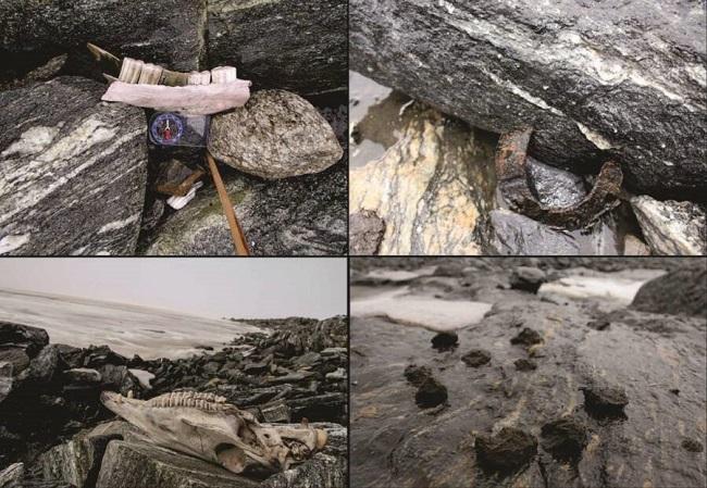 Objetos vikings encontrados/Reprodução