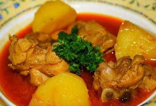 Resep Praktis Ayam Kentang Gulai Merah