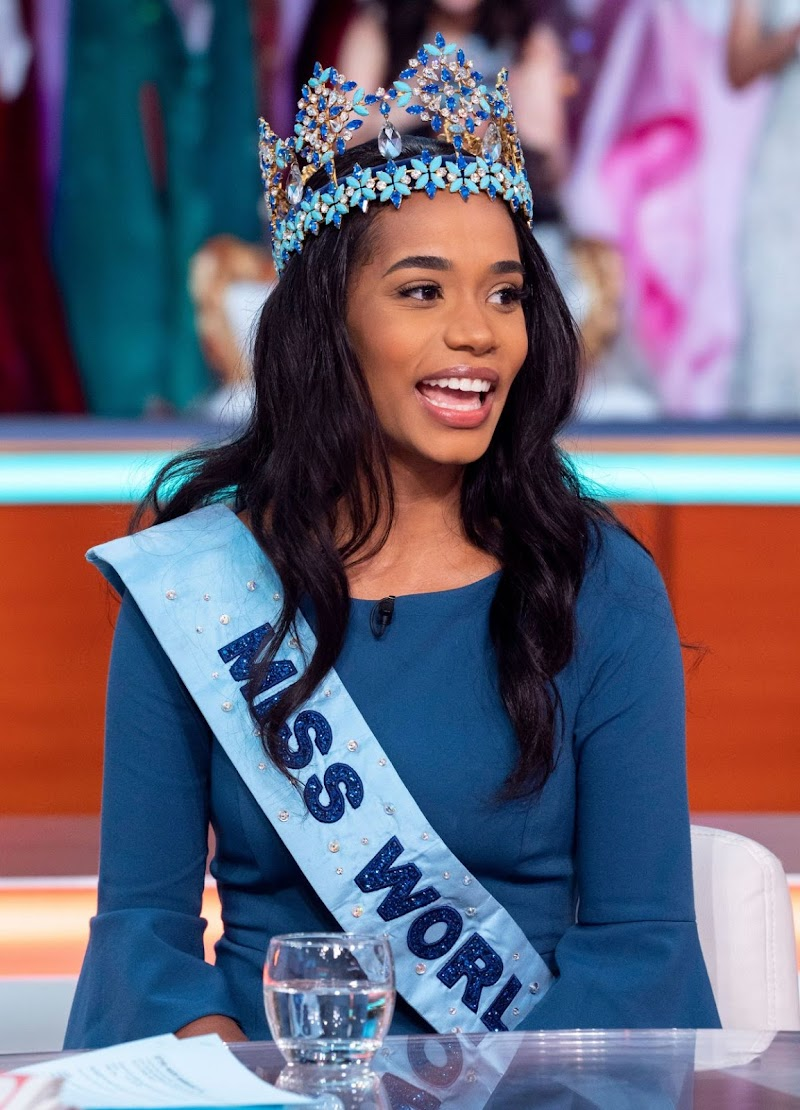 Crowned Miss World Toni-Ann Singh Clicks at Good Morning Britain Show in London 16 Dec-2019