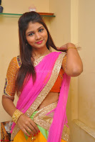 Lucky Sree in dasling Pink Saree and Orange Choli DSC 0332 1600x1063.JPG