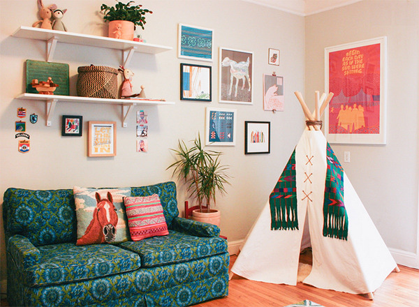 teepee living room