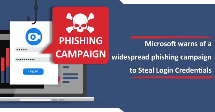 Microsoft warns of a Widespread Phishing Campaign to Steal Login Credentials