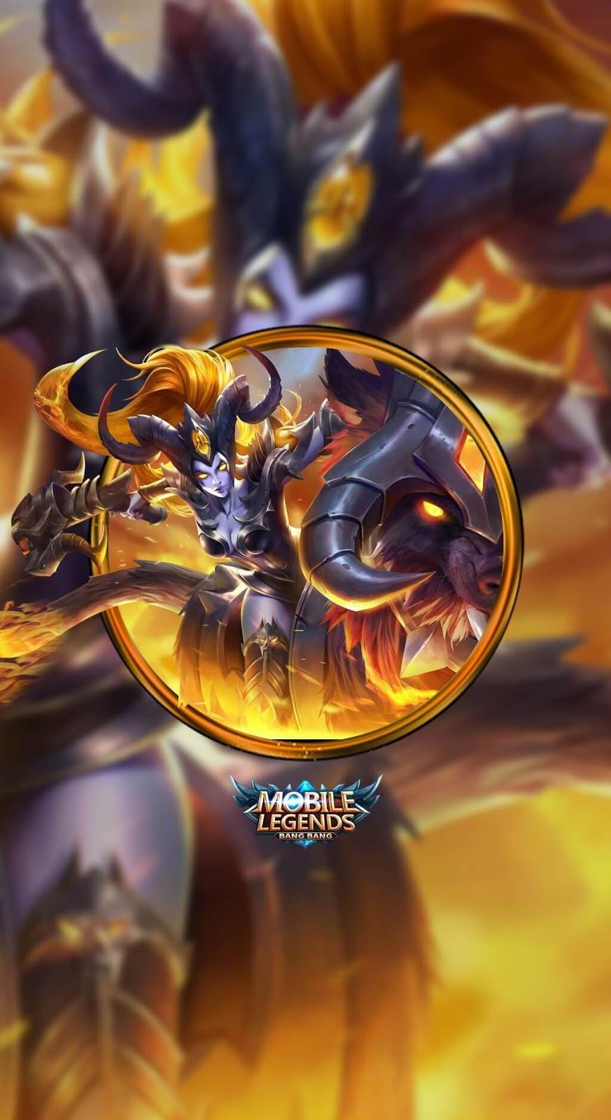 Wallpaper Irithel Hellfire V1 Skin Mobile Legends HD for Mobile