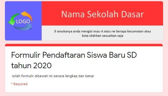 Membuat Google Formulir Pendaftaran Sekolah