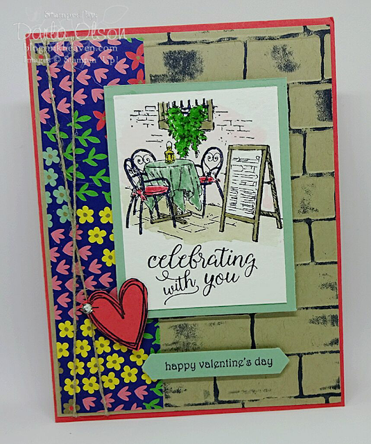 This beautiful card depicts a romantic, Mediterranean Moment and has been shared by Darla Olson at inkheaven