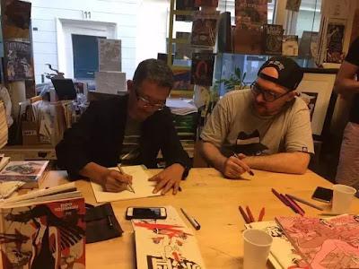 Eldo Yoshimitsu et Alexis Bacci, deux auteurs de bande dessinée / manga