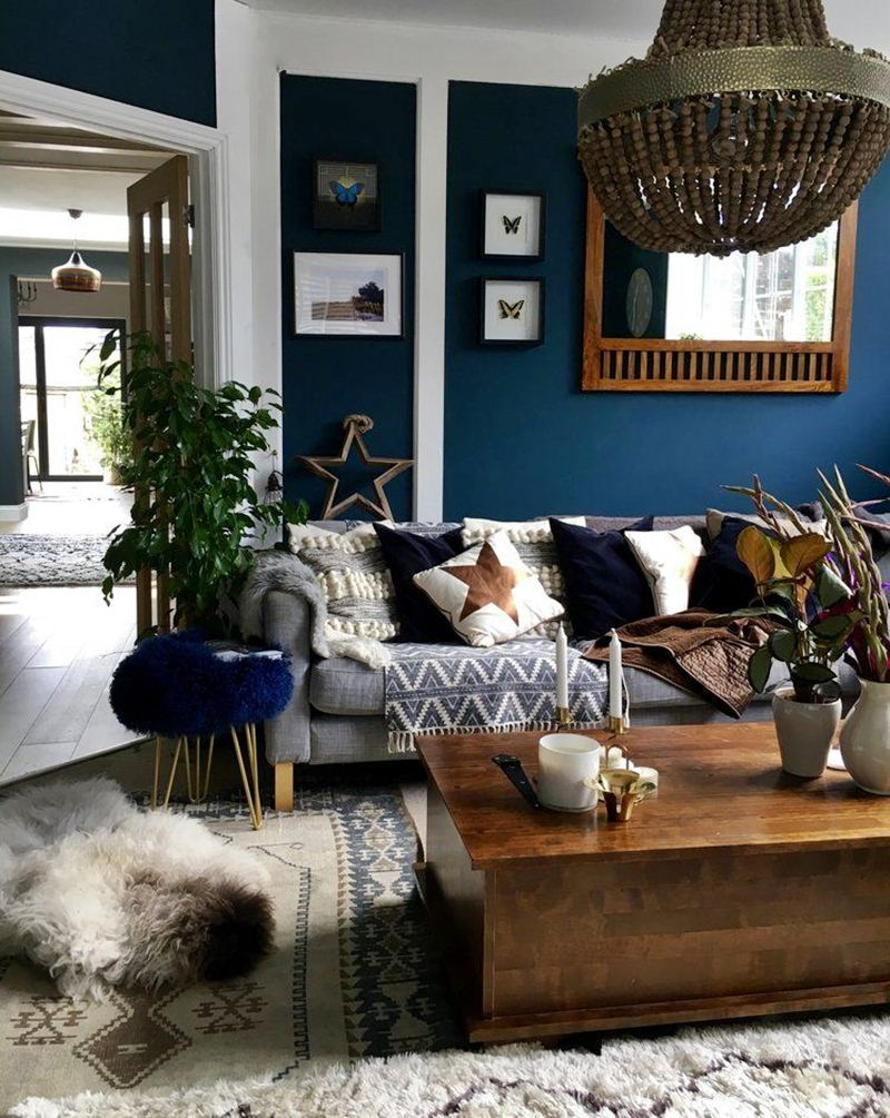 6 Modern Navy Blue Living Room Ideas