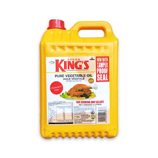 King's Pure Vegetable Oil 5 Liters On A White Background