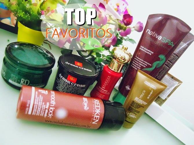 Produtos favoritos para os cabelos