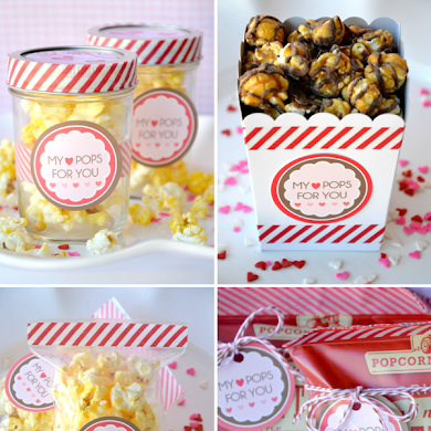 Valentine's Day DIY Party Favors & Free Printables