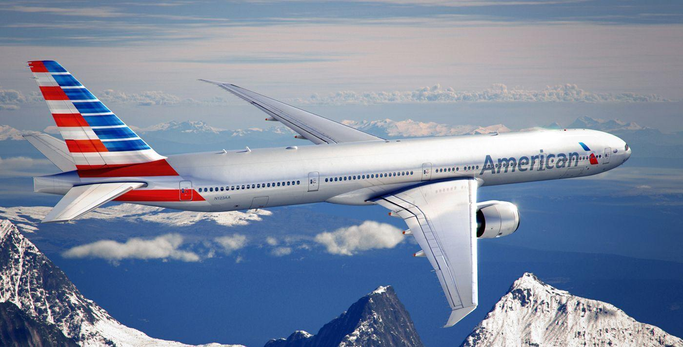 The Eagle Rises from The Ashes American Airlines 777 wallpaper