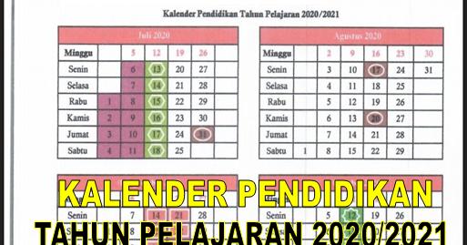 Kalender Pendidikan di Beberapa Provinsi T.A. 2020/2021 ...