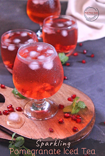 Sparkling Pomegranate Iced Tea