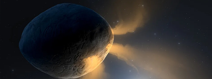 asteroide faetonte com cauda de cometa
