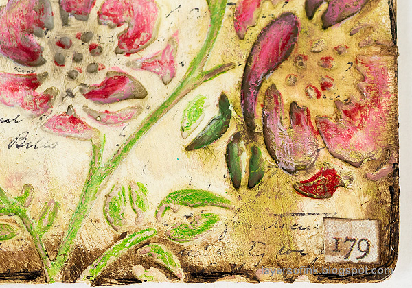 Layers of ink - Vintage Flower Artist Trading Cards Tutorial by Anna-Karin Evaldsson.