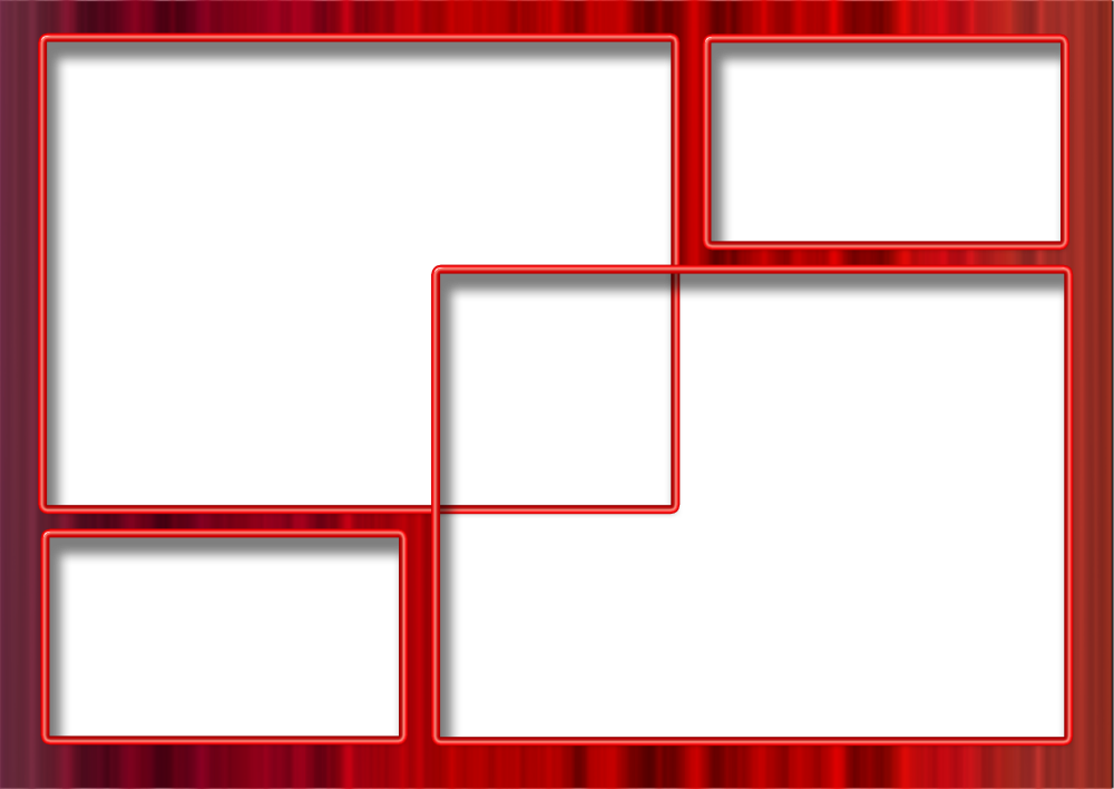 Art Gallery 89: Red Simple Frame for Photo