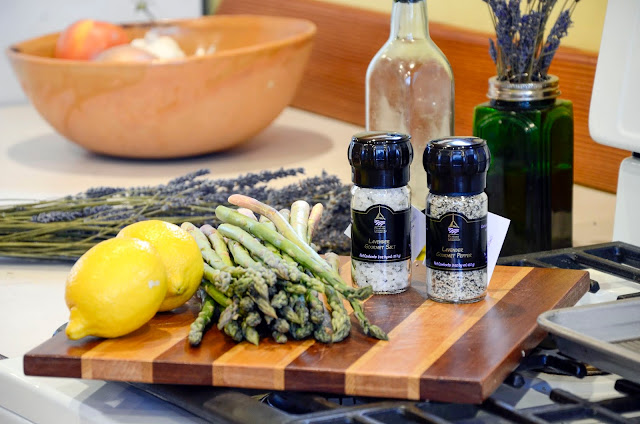 Ingredients Needed for Lavender Lemon Asparagus Recipe