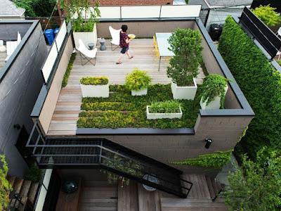 rumah atap terbuka landai rooftop  PT Prospera Jaya Group