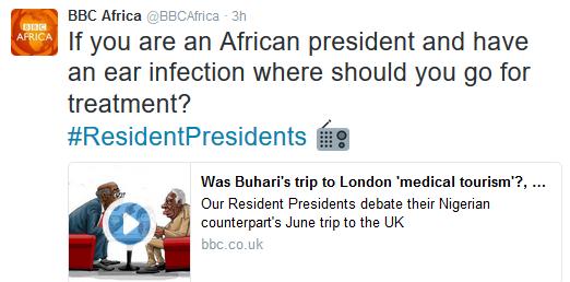Wait, did BBC Africa shade President Buhari?