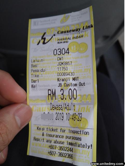 CW1 kranji MRT to Johor