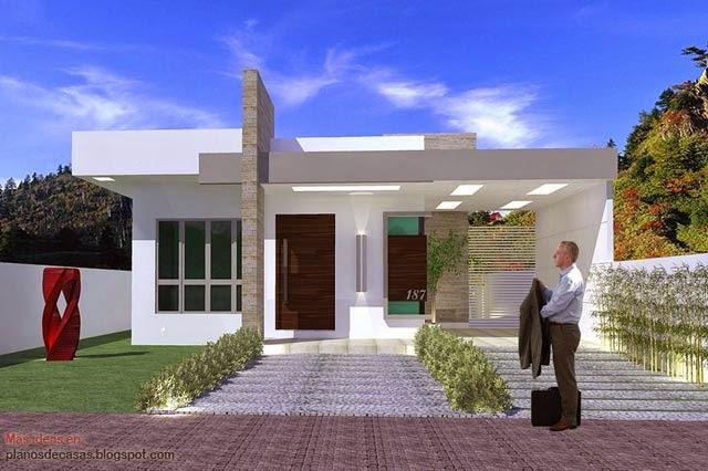 Plano de casa moderna de 93 m2 planos de casas gratis y for Casa moderna 150 m2