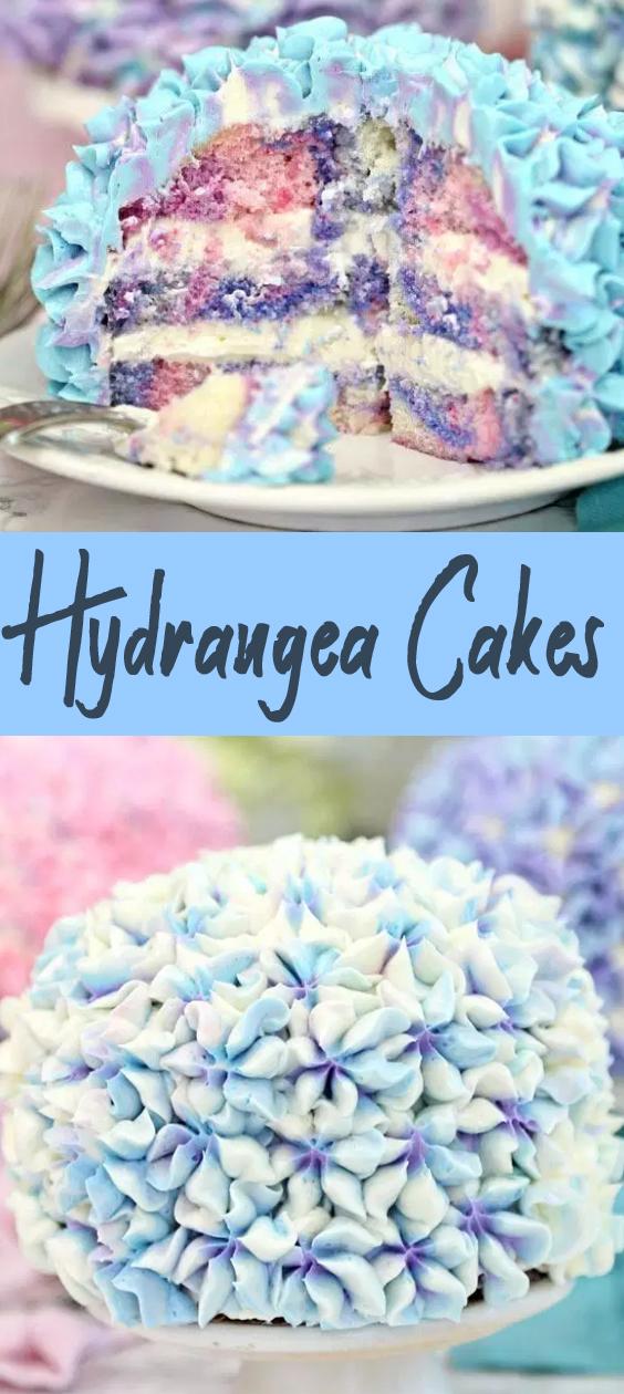 Recipe Hydrangea Cakes #cakes