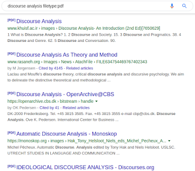 Discourse analysis PDF only - Clevious Discourse