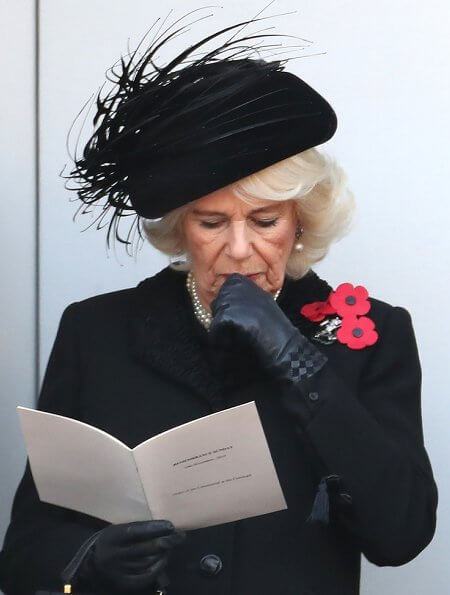 Queen Elizabeth, Kate Middleton, Meghan Markle, the Duchess of Cornwall, the Countess of Wessex at Cenotaph