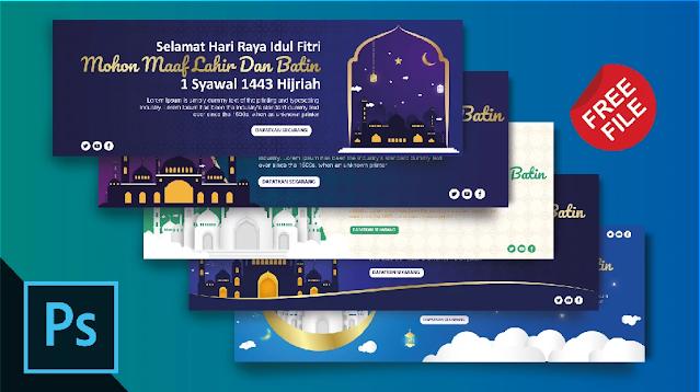 Free Banner PSD : Download Kumpulan Banner Idul Fitri Photoshop
