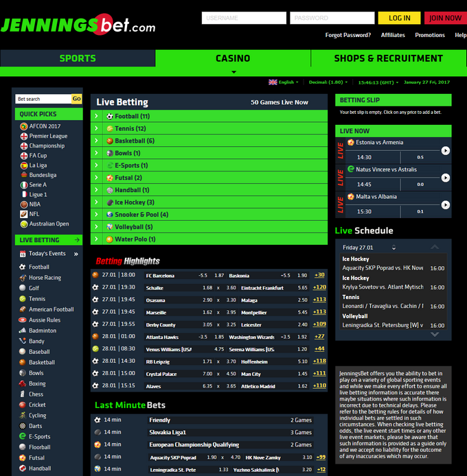 JenningsBet Screen