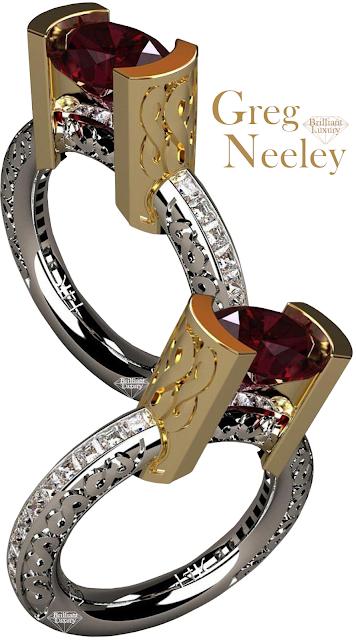 Greg Neeley Infinity Ruby Diamond Ring #jewelry #brilliantluxury