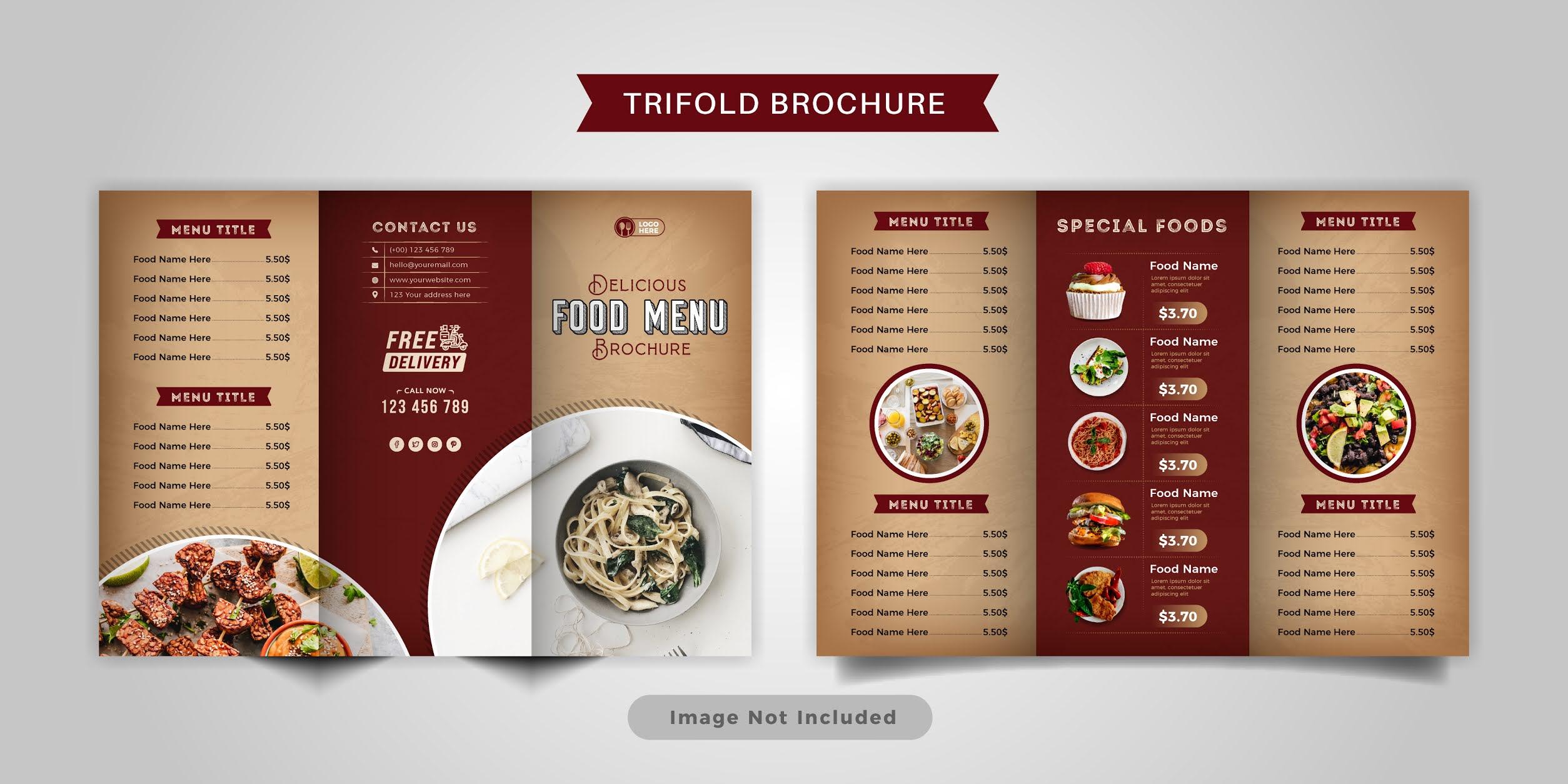 Free download food brochure 7 professional designs 2 set in vector format